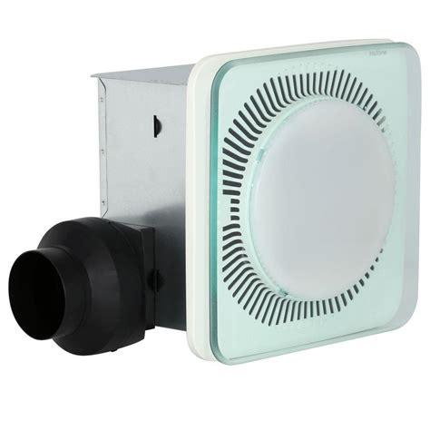 decorative bathroom exhaust fans with light nutone lunaura square panel decorative white 110 cfm