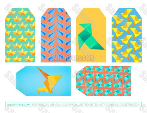origami gift tags origami gift tags