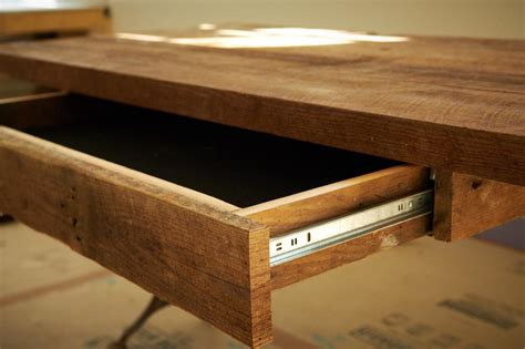 how to make an office desk how to build a reclaimed wood office desk how tos diy