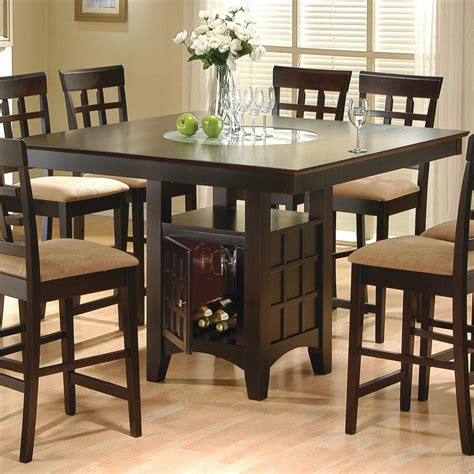 counter height dining table coaster mix and match cappuccino counter height dining