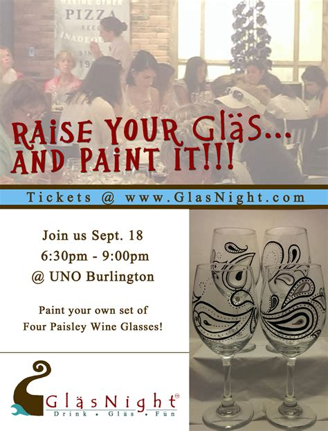 paint nite boston calendar paint your own set of 4 wine glasses at glasnight 09 18 14