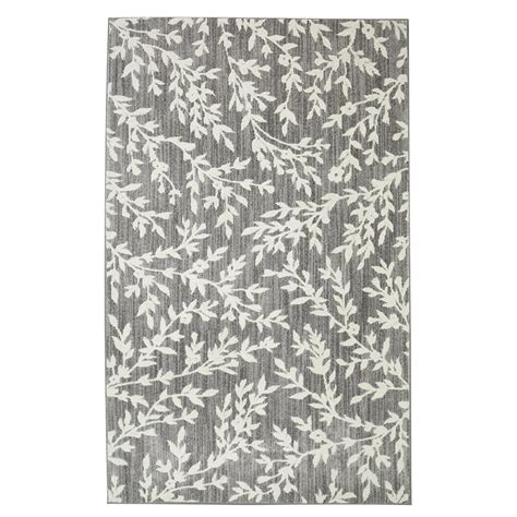 area rugs gray floral branches gray 8 ft x 10 ft area rug 508753 the