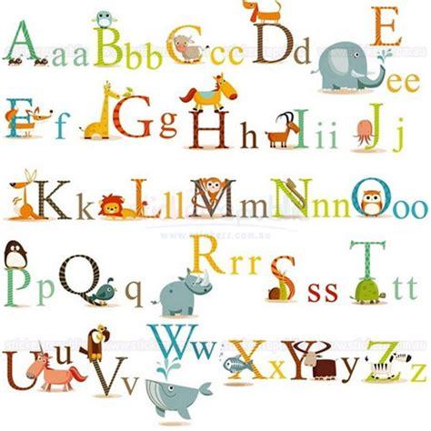 Large Alphabet Wall Stickers alphabet letter wall sticker 26 alphabet letters animal