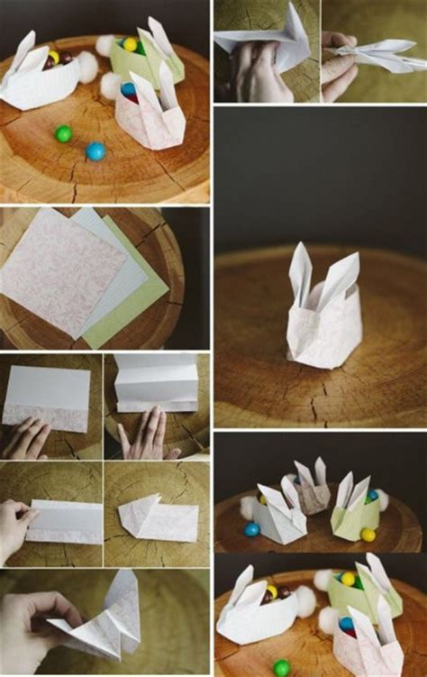 paper craft step by step how to fold paper craft origami bunny step by step diy