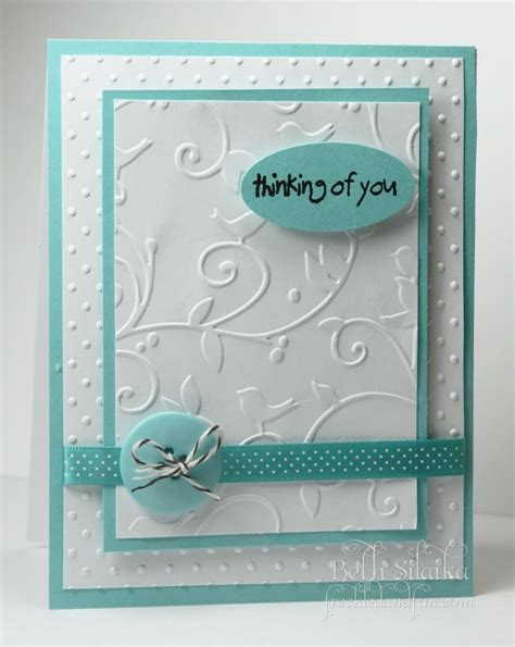 embossing card 25 best ideas about embossed cards on