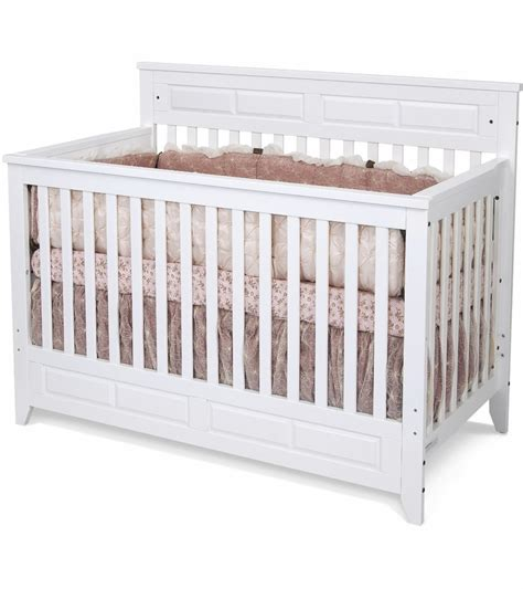kid craft crib child craft logan convertible crib in matte white