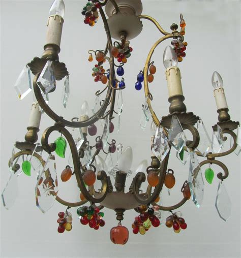 murano glass fruit chandelier vintage antique italian murano glass fruit and