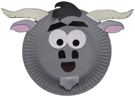 goat paper plate craft paper plate goat craft