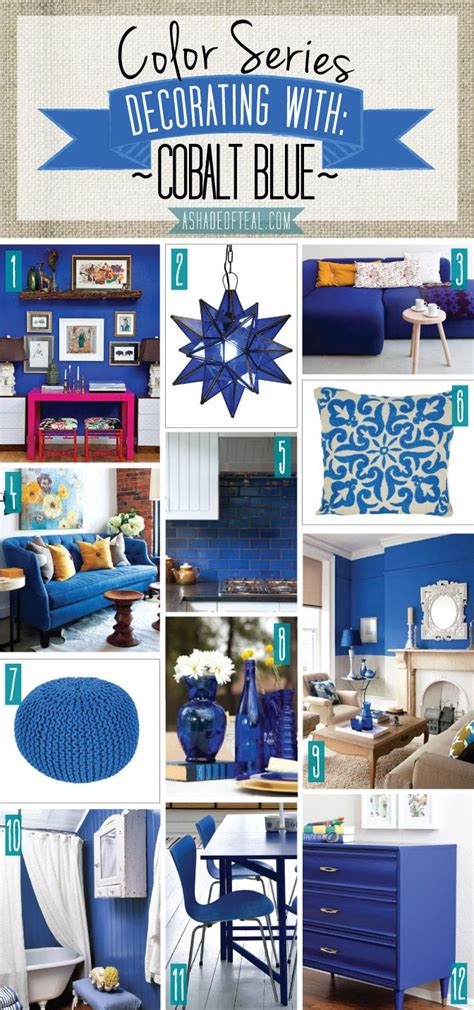 cobalt blue home decor color series decorating with cobalt blue shades of teal