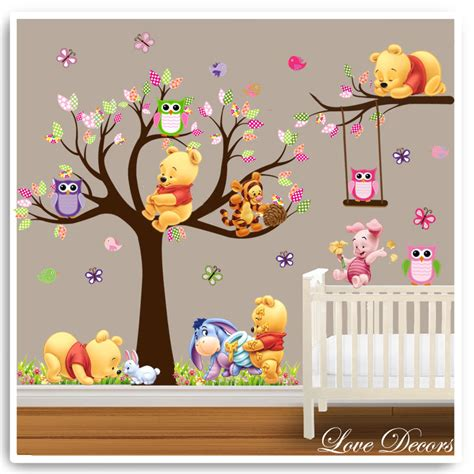 winnie the pooh wall stickers owl animal nursery baby