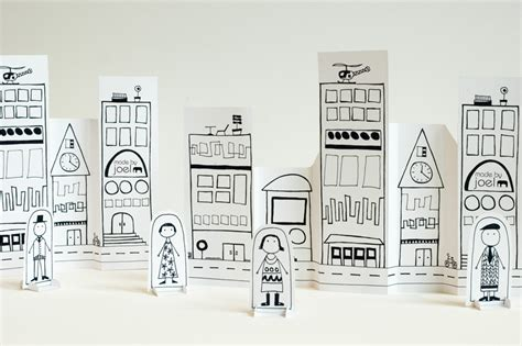 paper craft city made by joel 187 paper city