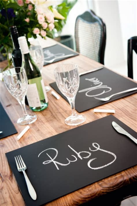 diy chalkboard placemats spotted ink our top 10 diy decorations