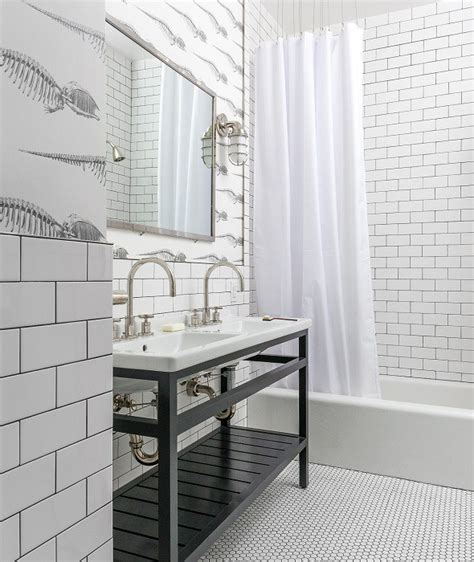 Black And White Themed Bathroom by Black And White Bathroom Floor Tiles Design Ideas
