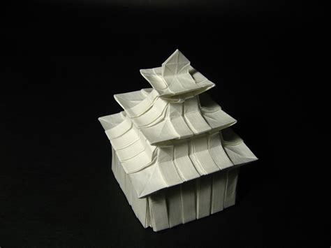 3d house origami galleries print origami designs fubiz