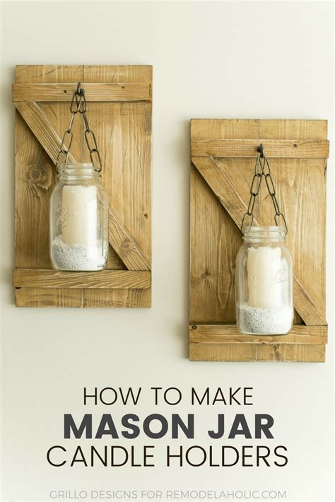 holders to make how to make hanging jar candle holders grillo designs