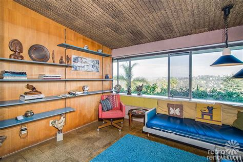 retro wood paneling magical 1954 los angeles time capsule house built by