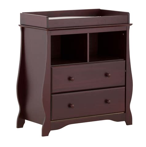 changing table drawer storkcraft carrara 2 drawer changing table