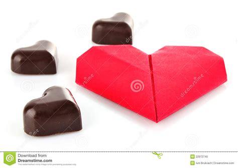 chocolate origami of chocolate and origami stock photo image 22972740
