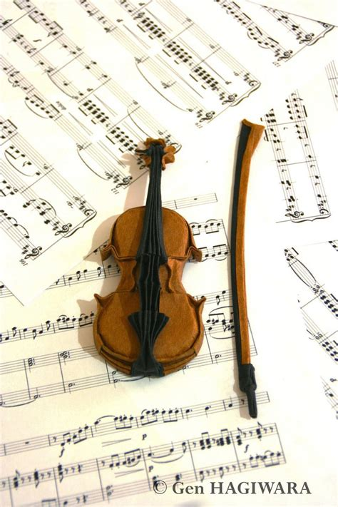 origami instruments origami violin by h on deviantart