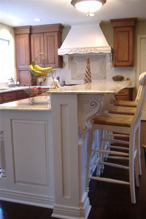 kitchen island corbels splendid houzz kitchen islands with corbels and vintage wood counter stools in white also 2 tier
