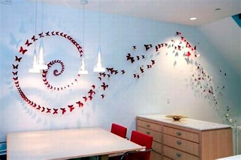 paper craft for wall decoration handmade butterflies decorations on walls paper craft ideas