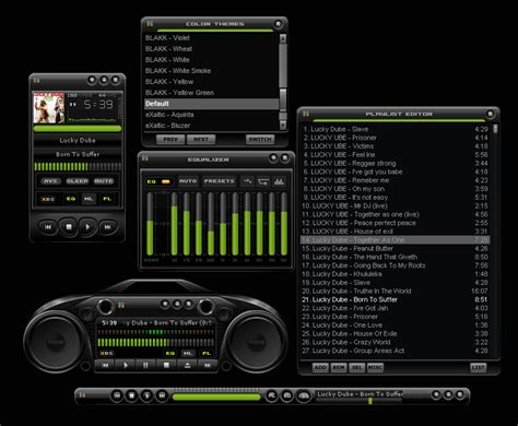 Nice Speakers winamp skins blakk by vica customize org