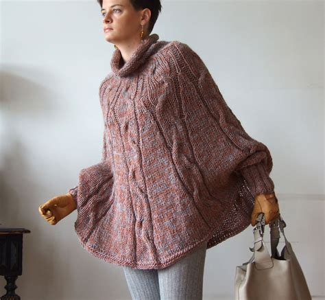 knitted ponchos knitted poncho braided cape sweater avant garde traffic