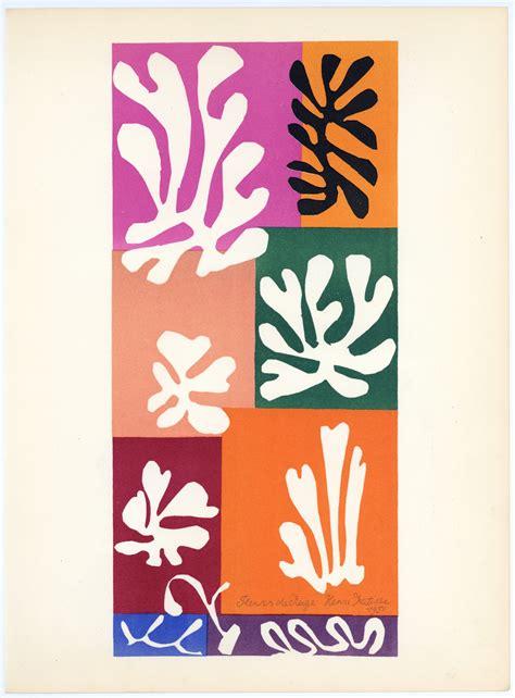 matisse decoupage henri matisse lithograph quot fleurs de neige quot