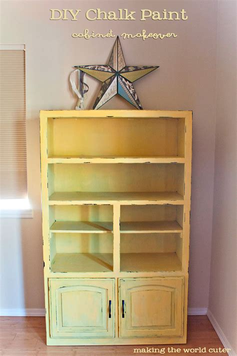 diy chalk paint for cabinets diy chalk paint cabinet makeover