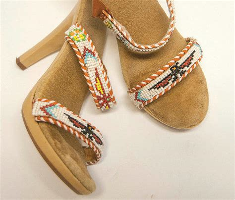 beaded high heel shoes american beaded high heel sandals from classic rock