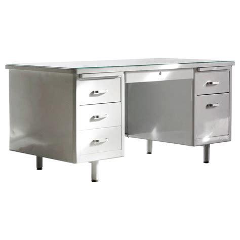 vintage white desks vintage mcdowell craig tanker desk refinished in white at