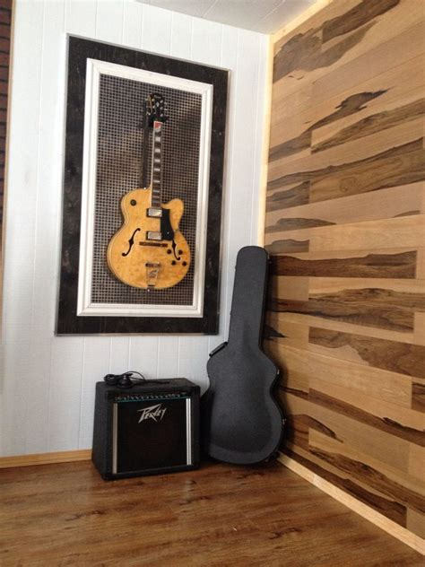 cadre pour guitare diy mur en plancher flottant trop cool plancher flottant