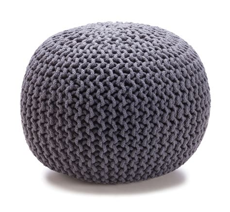 knit ottoman new kmart home collection checks and spots