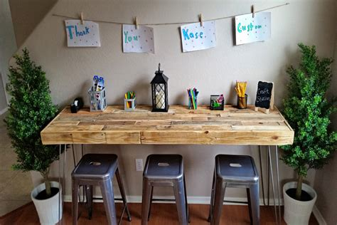 and craft table reclaimed wood modern custom craft table bar office work