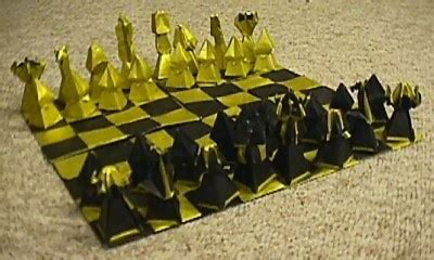 how to make origami chess pieces chess sets brian carnell