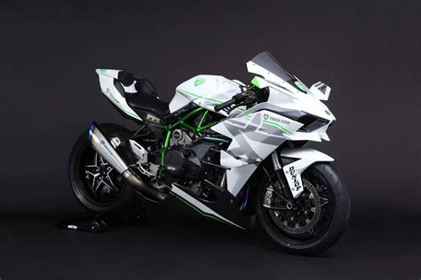h2r 2016 kawasaki h2r in white livery is the of