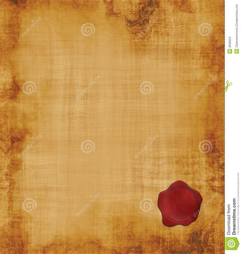 sealing paper parchment paper with seal stock vector image 2836624
