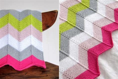 Zig Zag Knitted Blanket Pattern