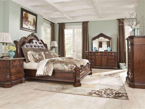 king sleigh bed bedroom sets furniture b705 ledelle king sleigh bed frame