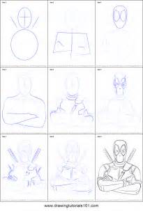 how to draw step by step how to draw deadpool printable step by step drawing sheet
