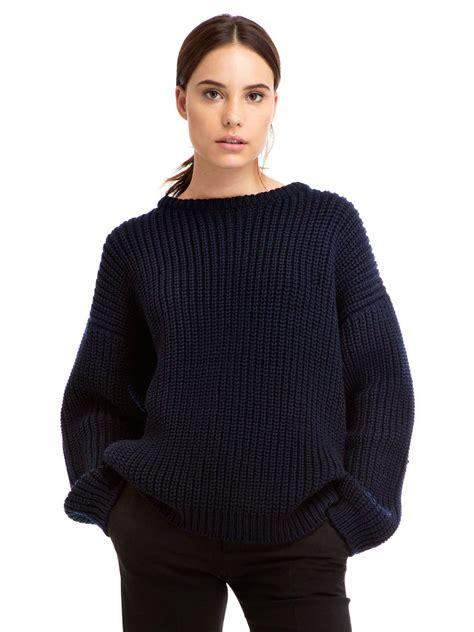 knit sweater zady 09 09 navy chunky knit sweater zady