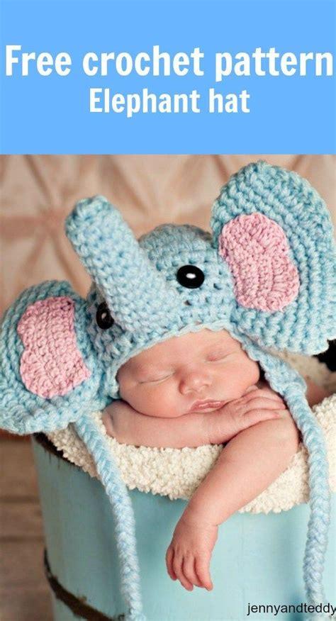 elephant hat knitting pattern elephant hat for newborns free crochet pattern crochet