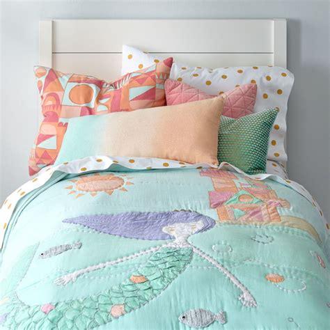 childrens bedroom bedding sets mermaid bedding the land of nod