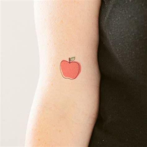crisp red apple tattoo pairodicetattoos com