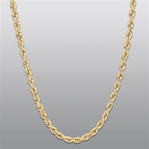 gold chain for jewelry 10kt gold rope necklace elegance to any at kmart