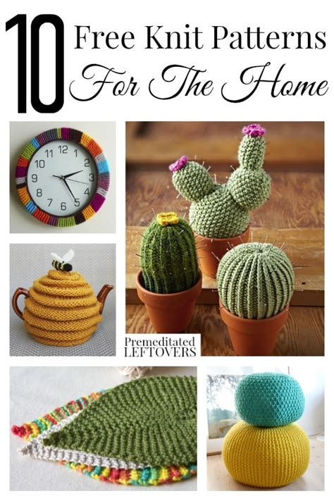 knit home 10 free knit patterns for the home