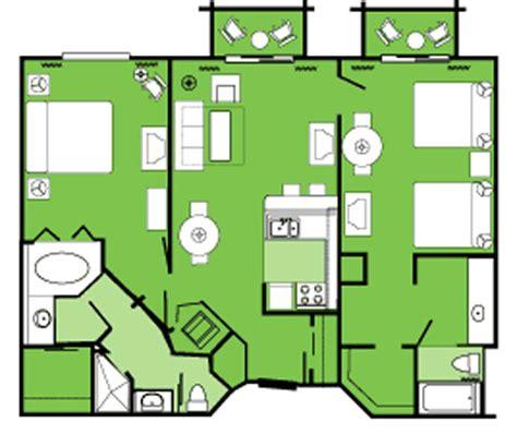 2 bedroom villa floor plans disney club 2 bedroom villa floor plan home