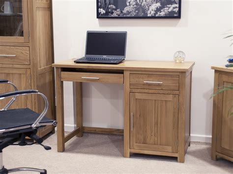 small pine computer desk solid oak furniture small office pc computer desk