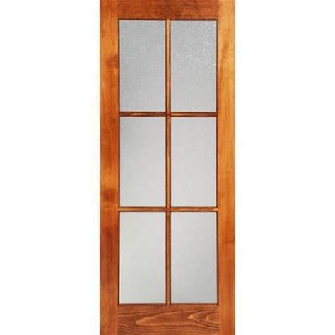 interior glass doors home depot milette 30x80 interior 6 lite door clear pine with privacy konfetti glass home depot