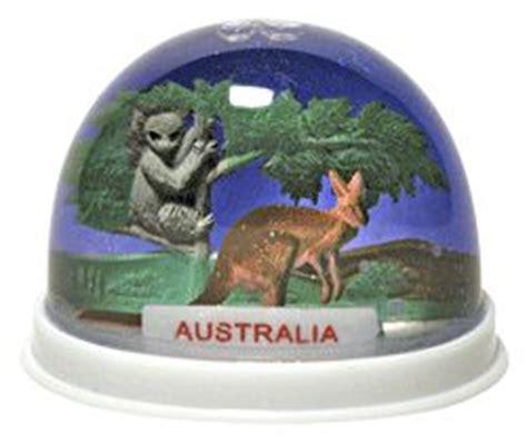 snow domes australia australia snowglobe snow dome with kangaroo and koala